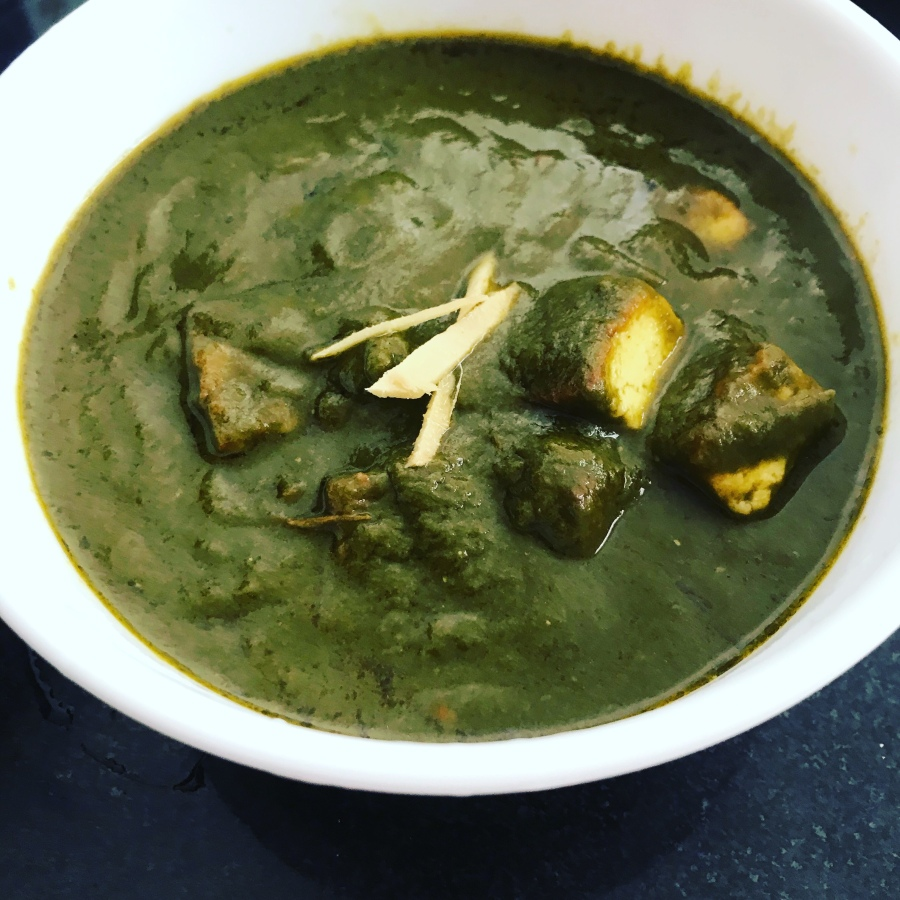 Palak Paneer (Spinach with CottageCheese)